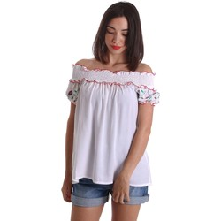 Clothing Women Tops / Blouses Denny Rose 73DR24012 Blusa Women White White