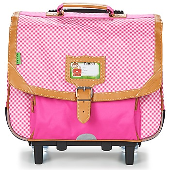 Bags Girl Rucksacks / Trolley bags Tann's LES CHICS FILLES TROLLEY CARTABLE 38CM Pink