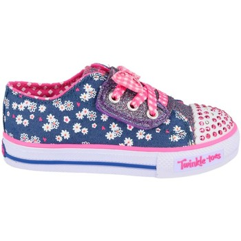 Shoes Children Low top trainers Skechers Daisy Dotty Blue-Pink