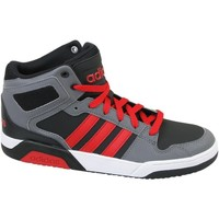 Shoes Children Hi top trainers adidas Originals BB9TIS Mid K Red-Grey-Black