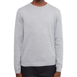 Clothing Men jumpers The Idle Man Knitted Crew Neck Jumper Grey