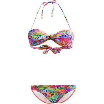 Clothing Girl Bikinis Lolita Angel Kids 2 Pieces Swimsuit Bandeau  Abigail Rio Chic Sixty Multicolo MULTICOLOUR