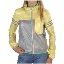 Clothing Women Macs adidas Originals SC W Hooded Jkt W Adj Grey-Green-Yellow