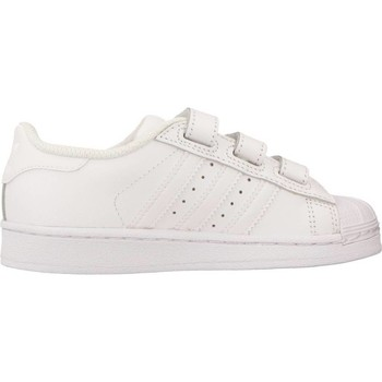 Shoes Children Low top trainers adidas Originals SUPERSTAR FOUNDATION CF C White