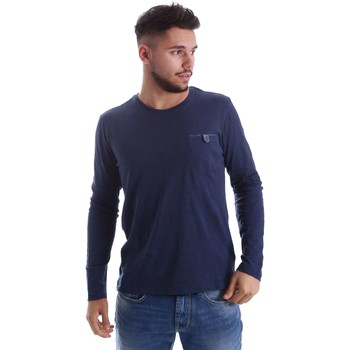 Clothing Men jumpers Gas 300155 T-shirt Man Blue Blue