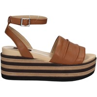 Shoes Women Sandals Fornarina PE17RI1009C087 Wedge sandals Women Brown Brown