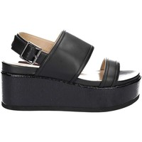 Shoes Women Sandals Fornarina PE17RI1010A000 Wedge sandals Women Black Black