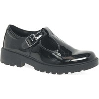 Shoes Girl Flat shoes Geox Junior Casey T-Bar Senior Girls School Shoes black