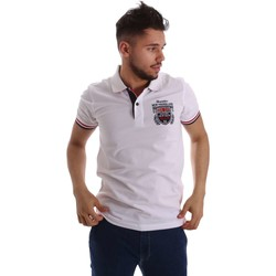 Clothing Men short-sleeved polo shirts Key Up 257QG 0001 Polo Man White White