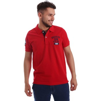 Clothing Men short-sleeved polo shirts Key Up 255QG 0001 Polo Man Red Red