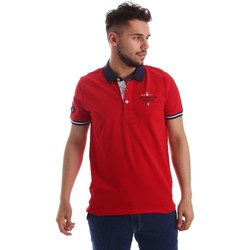 Clothing Men short-sleeved polo shirts Key Up 253QG 0001 Polo Man Red Red