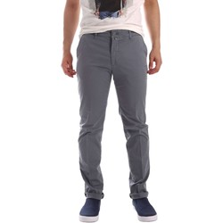 Clothing Men chinos Sei3sei PZV20 7148 Trousers Man Grey Grey