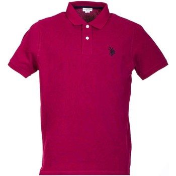 Clothing Men short-sleeved polo shirts U.S Polo Assn. U.s. polo assn. 38227 41029 Polo Man Violet Violet