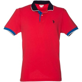 Clothing Men short-sleeved polo shirts U.S Polo Assn. U.s. polo assn. 38237 50336 Polo Man Red Red