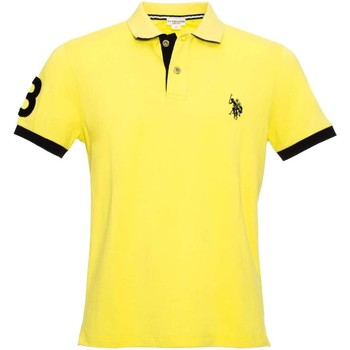 Clothing Men short-sleeved polo shirts U.S Polo Assn. U.s. polo assn. 38230 41029 Polo Man Yellow Yellow
