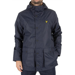 Clothing Men Jackets Lyle & Scott Men's Micro Fleece Lined Logo Jacket, Blue blue