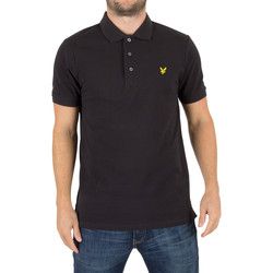 Clothing Men short-sleeved polo shirts Lyle & Scott Men's Logo Polo Shirt, Black black