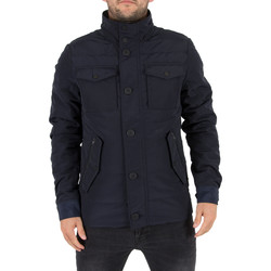 Clothing Men Jackets J Lindeberg Men's Bailey 76 Structured Poly Jacket, Blue blue