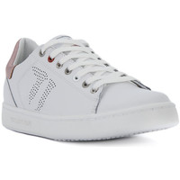 Shoes Women Low top trainers Trussardi LEATHER SAFFIANO Bianco