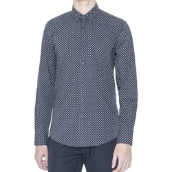 Clothing Men long-sleeved shirts Antony Morato MMSL00378 FA430236 Shirt Man Blue Blue