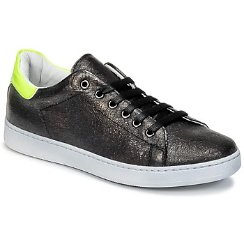 Shoes Children Low top trainers Young Elegant People EDENI Black / Yellow / Fluorescent