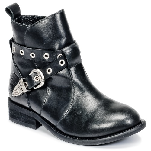 Shoes Girl Mid boots Young Elegant People CALYPSOM Black