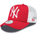 New Era NY Yankees Clean A Frame Trucker Cap - Scarlet