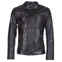 Clothing Men Leather jackets / Imitation leather Casual Attitude IHEXO Black