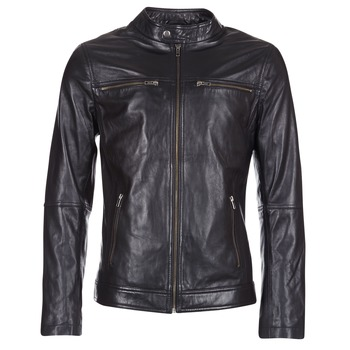 Clothing Men Leather jackets / Imitation leather Casual Attitude HEXO Black
