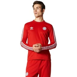 Clothing Men Long sleeved tee-shirts adidas Originals Z Długim Rękawem Originals Bayern Longsleeve Red