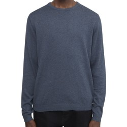 Clothing Men jumpers The Idle Man Knitted Crew Neck Jumper Navy
