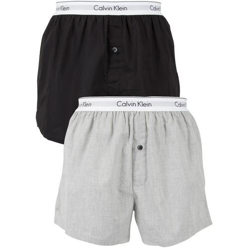 Underwear Men Boxer shorts Calvin Klein Jeans 2 Pack Logo Slim Fit Woven Boxers multicoloured