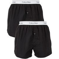 Clothing Men Trunks / Underwear Calvin Klein Jeans Men's 2 Pack Logo Slim Fit Boxers, Black black