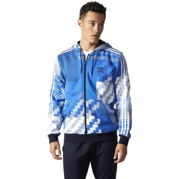 Clothing Men sweatpants adidas Originals Originals Essentials Aop Rozpinana Z Kapturem Blue