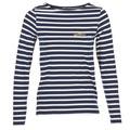 Clothing Women Long sleeved tee-shirts Betty London IFLIGEME Marine / White