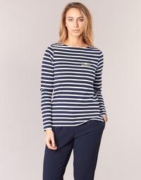 Clothing Women Long sleeved tee-shirts Betty London FLIGEME Marine / White