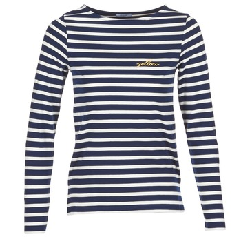 Clothing Women Long sleeved tee-shirts Betty London IFLIGEME Marine / White