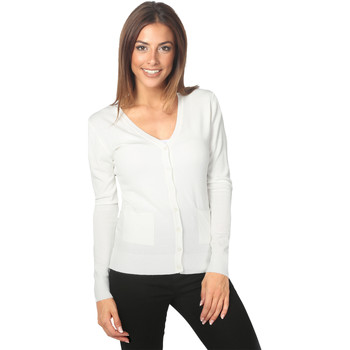 Clothing Women Jackets / Cardigans Krisp Two Pocket Basic Cardigan White