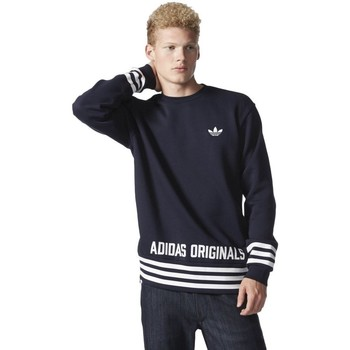 Clothing Men jumpers adidas Originals Originals Street Graphic Crew Dresowa Navy blue