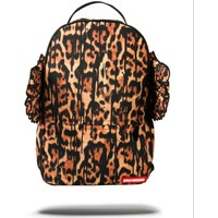 Bags Rucksacks Sprayground Leopard Drip Wings Backpack Orange