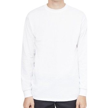 Clothing Men Long sleeved tee-shirts The Idle Man Classic Long Sleeve T-Shirt White White