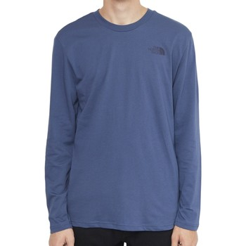 Clothing Men Long sleeved tee-shirts The North Face Long Sleeve Easy T-Shirt Blue Blue