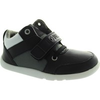 Shoes Children Low top trainers Bobux I-Walk Hi Top Blak/Grey/White