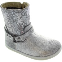 Shoes Girl Ankle boots Bobux I-Walk Strap Boot Silver
