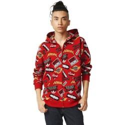 Clothing Men jumpers adidas Originals Originals Jams Rozpinana Z Kapturem Red