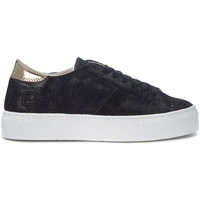 Shoes Low top trainers Date D.A.T.E. Vertigo Stardust black and golden leather sneaker Black