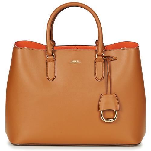 Bags Women Handbags Lauren Ralph Lauren DRYDEN MARCY TOTE Cognac / Orange