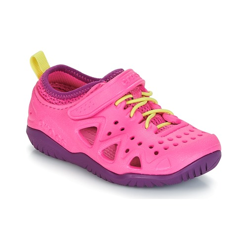 Shoes Girl Water shoes Crocs SWIFTWATER PLAY SHOE K Pink