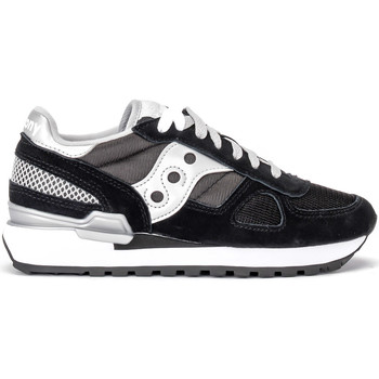 Shoes Low top trainers Saucony Sneaker  Shadow in suede e mesh nero Black