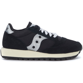 Shoes Low top trainers Saucony Sneaker  Jazz in black suede and nylon Black